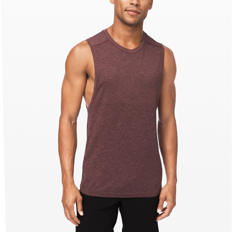 Fitted crew-neck tank