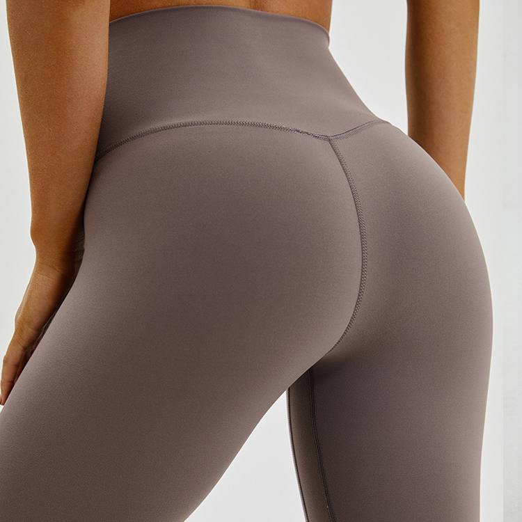 Womens Front Seamless Ankle Leggings
