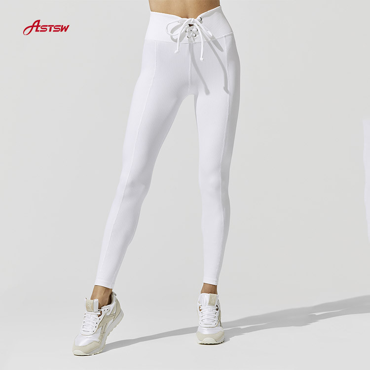 High Waist Lace-Up Front Gym pant