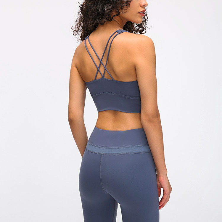 Cross Back Straps Fitness Sports Bra