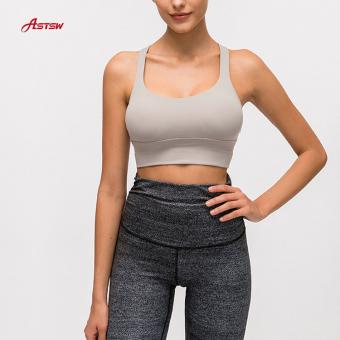 Double Strap Grey Running Bra