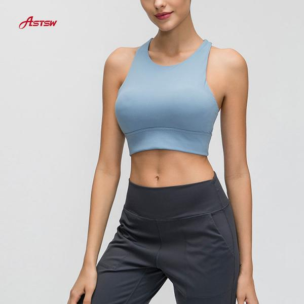 High Neck Fitness Sports Bra