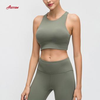 High Neck Yoga Bra