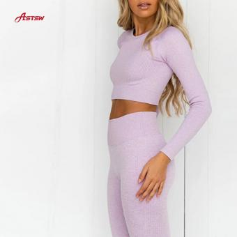 High Waist Long Sleeves Set