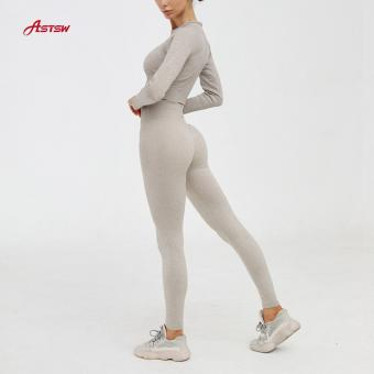 Seamless Long Sleeves Yoga Set